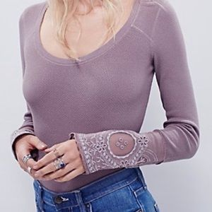Free People Lovely Lady Cuff Thermal Mushroom
